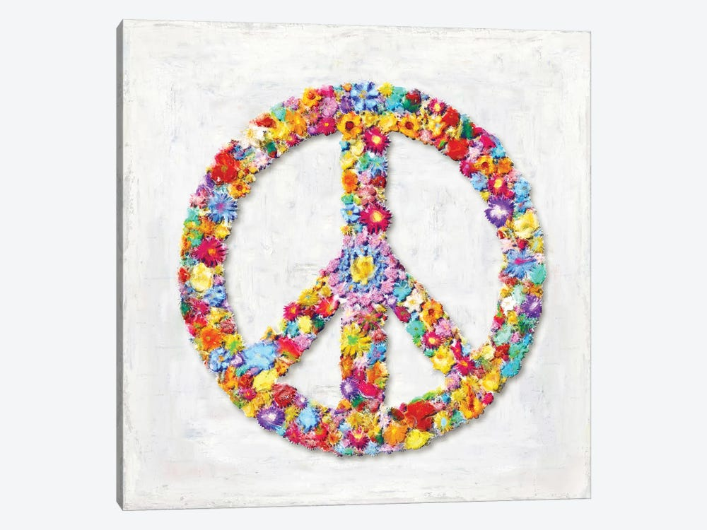 Peace Sign by Janie Macdowell 1-piece Canvas Wall Art