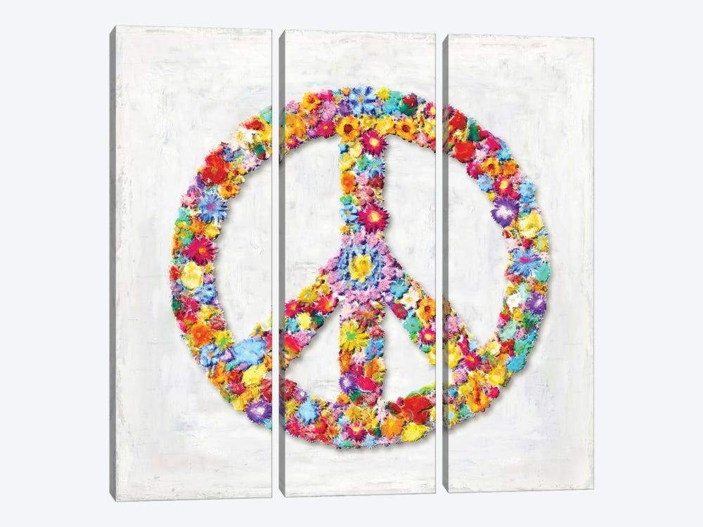Peace Sign by Janie Macdowell 3-piece Canvas Wall Art