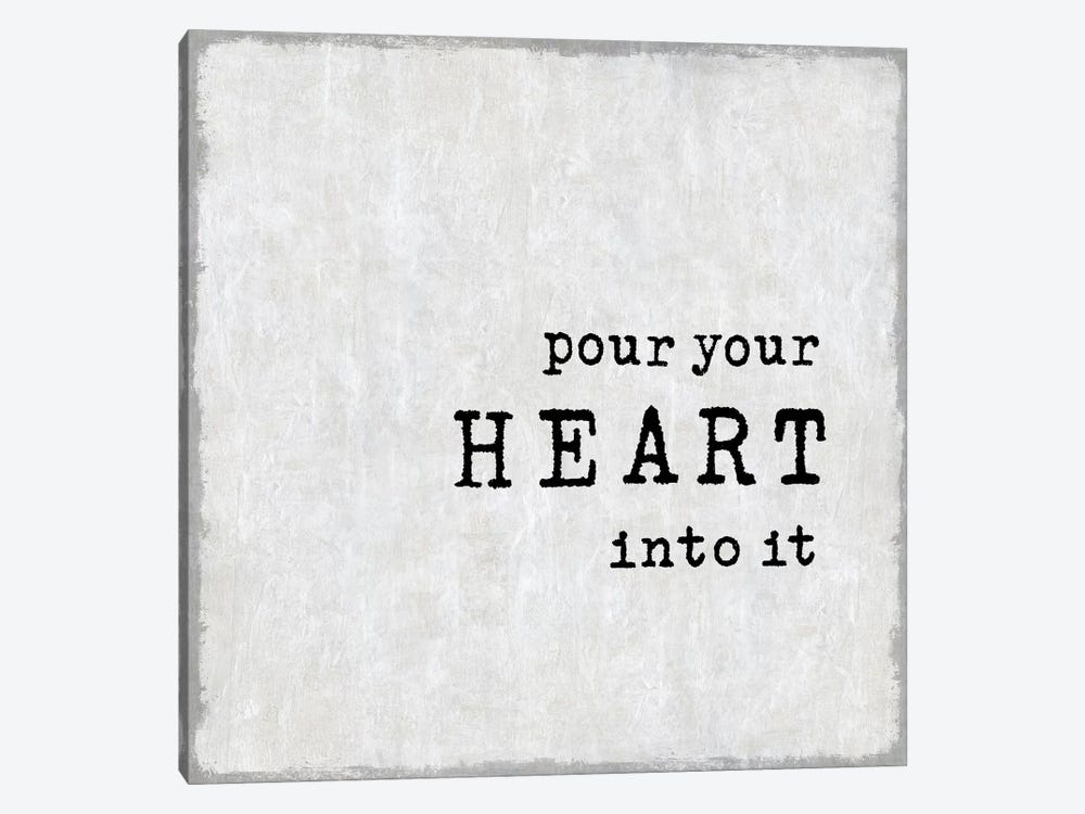 Pour Your Heart by Janie Macdowell 1-piece Canvas Art Print