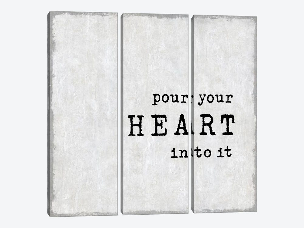 Pour Your Heart by Janie Macdowell 3-piece Canvas Art Print