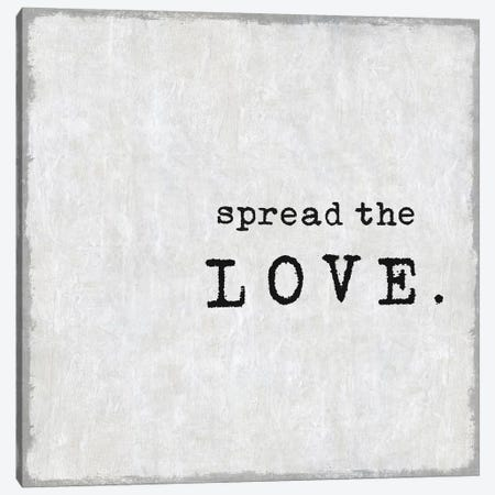 Spread The Love Canvas Print #DWL33} by Janie Macdowell Canvas Wall Art