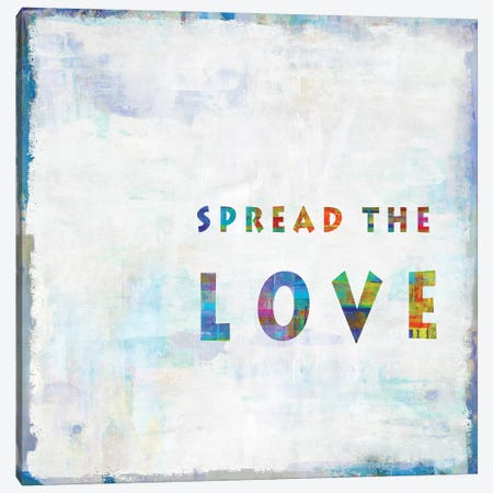 Spread The Love In Color Canvas Print #DWL34} by Janie Macdowell Canvas Print