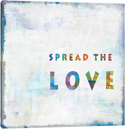 Spread The Love In Color Canvas Art Print