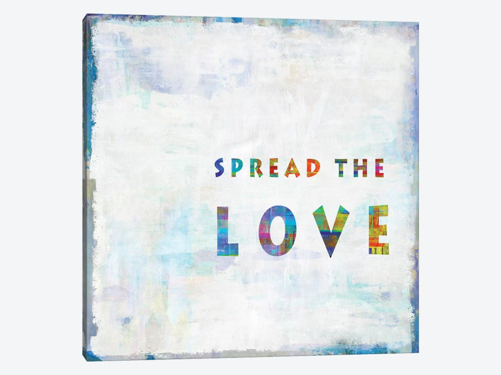 Spread The Love In Color by Janie Macdowell 1-piece Canvas Wall Art