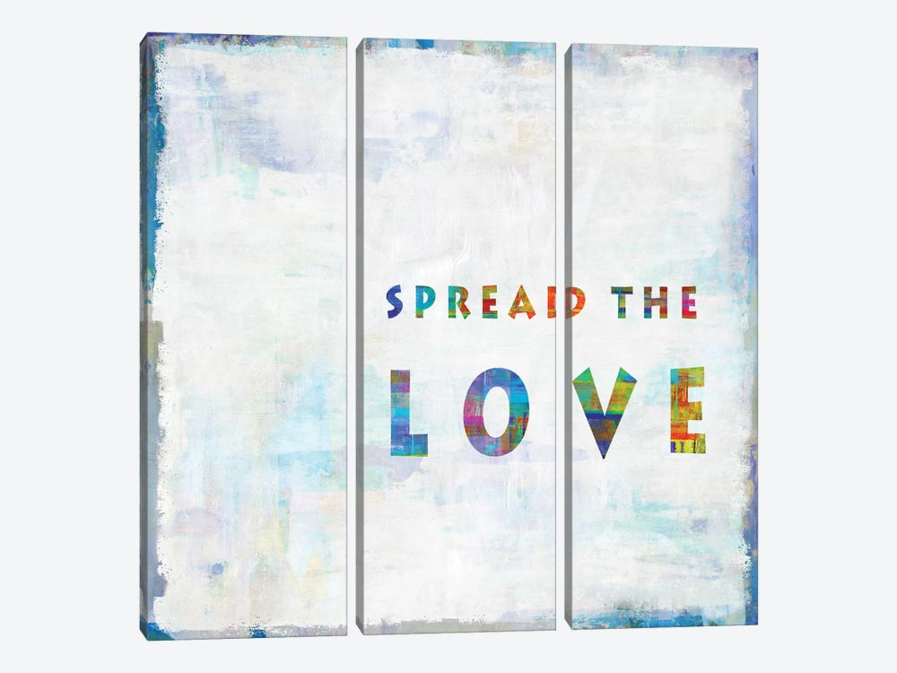 Spread The Love In Color by Janie Macdowell 3-piece Canvas Art