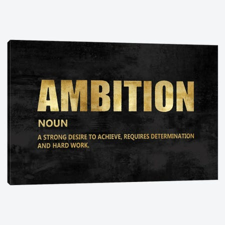 Ambition in Gold Canvas Print #DWL37} by Jamie MacDowell Canvas Print