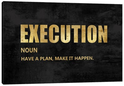 Execution in Gold Canvas Art Print