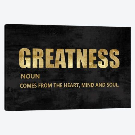 Greatness in Gold Canvas Print #DWL41} by Jamie MacDowell Art Print