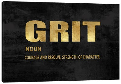 Grit in Gold Canvas Art Print