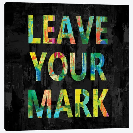 Leave Your Mark in Color Canvas Print #DWL43} by Jamie MacDowell Canvas Print