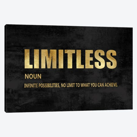 Limitless in Gold Canvas Print #DWL44} by Jamie MacDowell Canvas Artwork