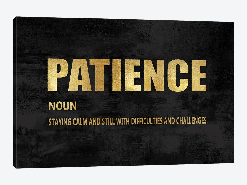 Patience in Gold by Jamie MacDowell 1-piece Canvas Wall Art