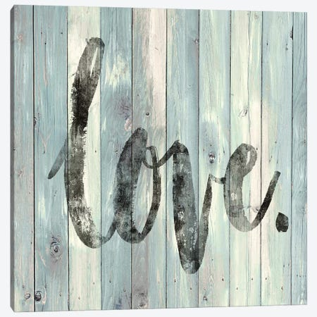 Love. On Wood Canvas Print #DWL4} by Janie Macdowell Canvas Wall Art