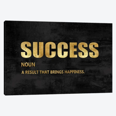 Success in Gold Canvas Print #DWL51} by Jamie MacDowell Canvas Wall Art