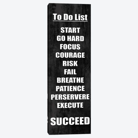 To Do List on Black Canvas Print #DWL52} by Jamie MacDowell Canvas Artwork
