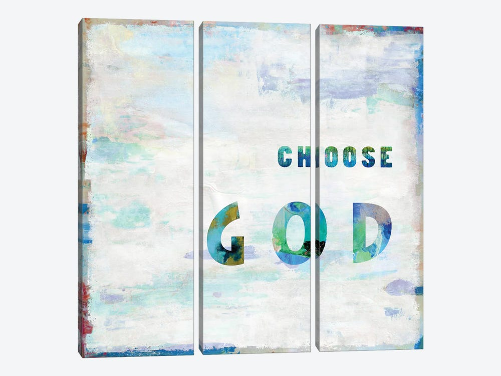 Choose God In Color by Jamie MacDowell 3-piece Canvas Artwork