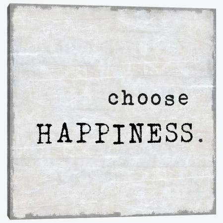 Choose Happiness Canvas Print #DWL8} by Janie Macdowell Canvas Print