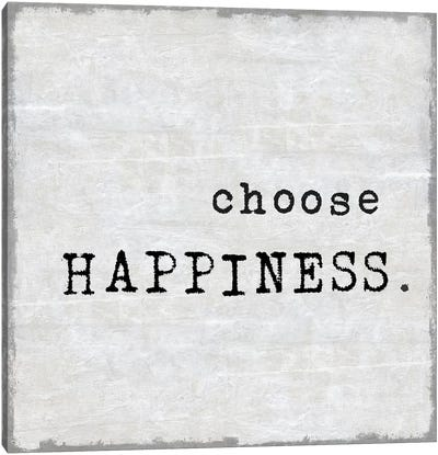 Choose Happiness Canvas Art Print