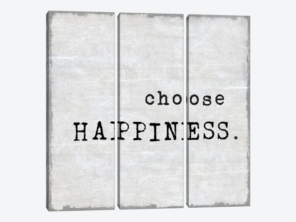 Choose Happiness by Janie Macdowell 3-piece Canvas Art Print