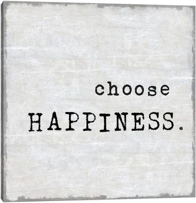 Choose Happiness Canvas Art Print