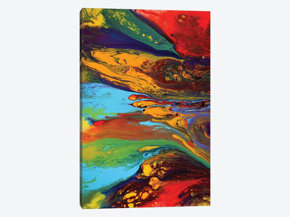 Abstract X by Destiny Womack 1-piece Canvas Wall Art