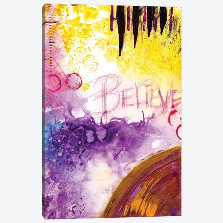 Believe 3-Piece Canvas #DWO25} by Destiny Womack Canvas Art Print