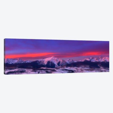 Gore Range Sunrise Canvas Print #DWP105} by Darren White Photography Canvas Art