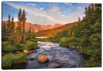 Alpenglow Creek Canvas Art Print