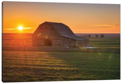 High Plains Sunset Flare hwy 183 Canvas Art Print