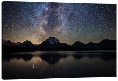 Jackson Lake Milky Way Canvas Art Print