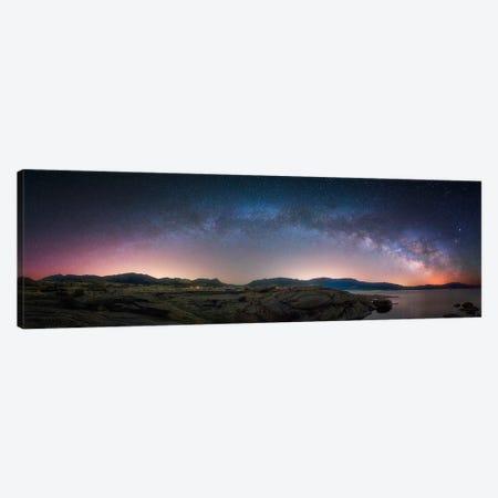 Late Night Milky Way Show copy Canvas Print #DWP134} by Darren White Photography Art Print