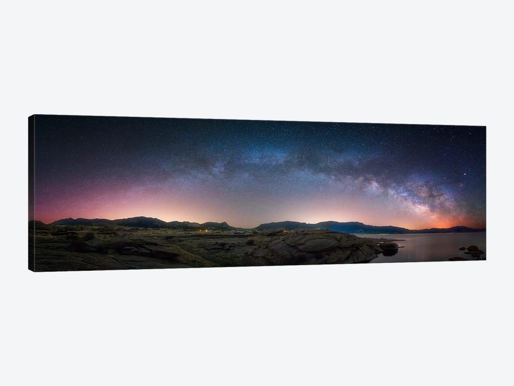 Late Night Milky Way Show copy by Darren White Photography 1-piece Canvas Print