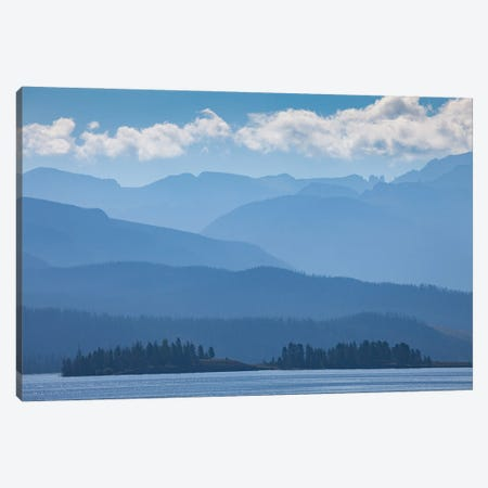 Layers of Blue Canvas Print #DWP135} by Darren White Photography Canvas Print