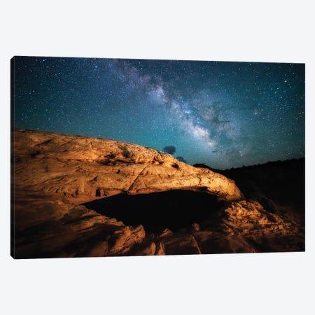 Mesa's Milky Way Canvas Print #DWP147} by Darren White Photography Canvas Artwork