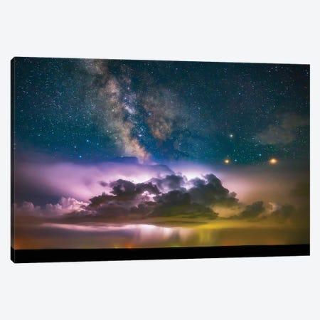 Milky Way Monsoon Print Canvas Print #DWP150} by Darren White Photography Canvas Artwork