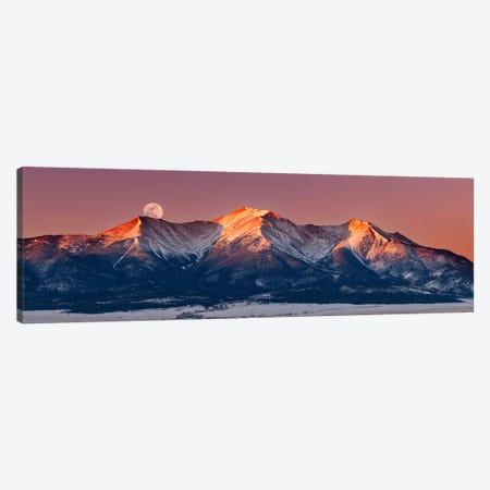Mount Princeton Moonset at Sunrise Canvas Print #DWP164} by Darren White Photography Canvas Art