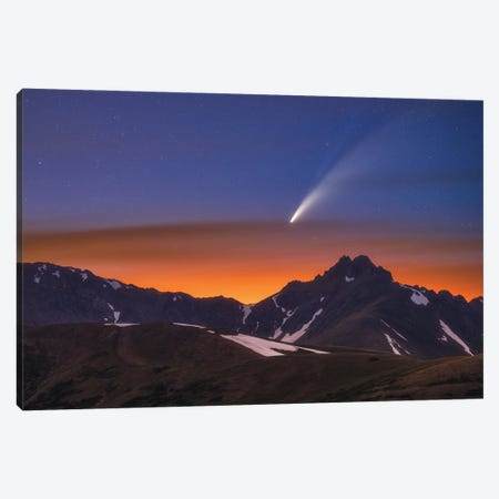 Neowise Over The Citadel Canvas Print #DWP167} by Darren White Photography Canvas Artwork