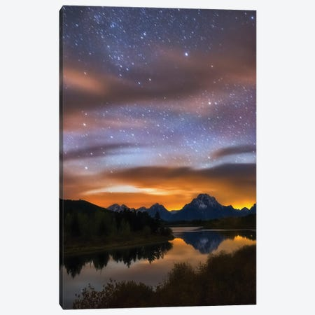 Oxbow Dreams Canvas Print #DWP178} by Darren White Photography Canvas Artwork