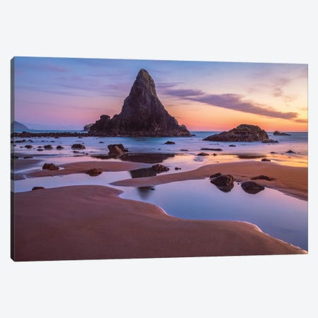 Port Orford Pools Canvas Print #DWP186} by Darren White Photography Canvas Wall Art