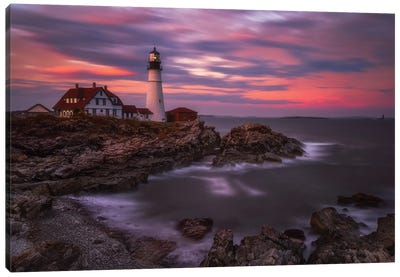 Portland Head Sunset Canvas Art Print