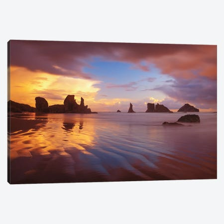 South Coast Sunset Canvas Print #DWP218} by Darren White Photography Canvas Print