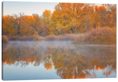 Autumn's Reflection Canvas Art Print
