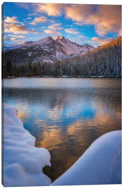 Sunrise Snow at Bear Lake Canvas Art Print