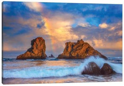 Bandon Rainbow Print Canvas Art Print
