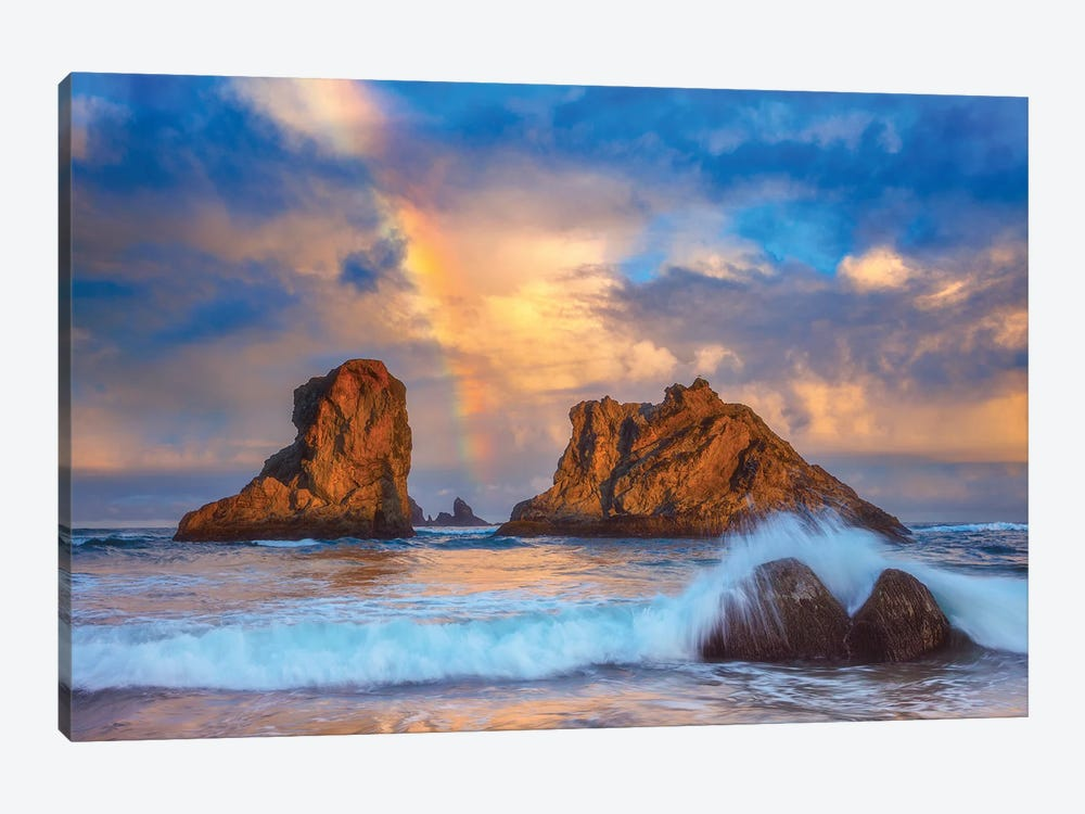Bandon Rainbow Print by Darren White Photography 1-piece Canvas Wall Art