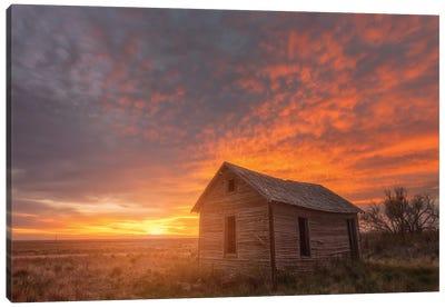 Sunset on the Prairie Canvas Art Print