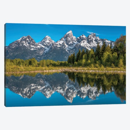 Tetons in Color 2015 Canvas Print #DWP260} by Darren White Photography Canvas Art