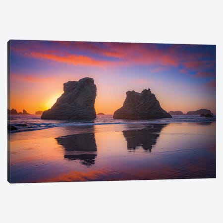 Bandon Sunset Canvas Print #DWP26} by Darren White Photography Canvas Wall Art