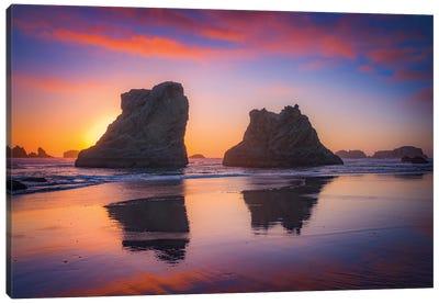 Bandon Sunset Canvas Art Print