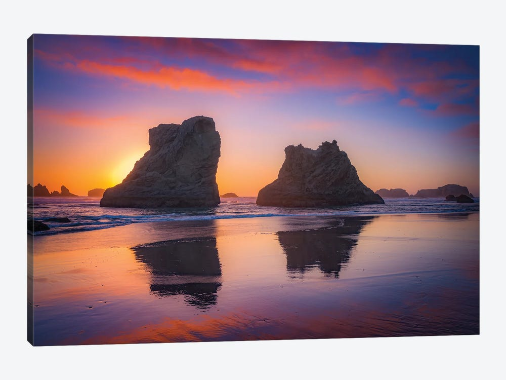 Bandon Sunset by Darren White Photography 1-piece Canvas Art